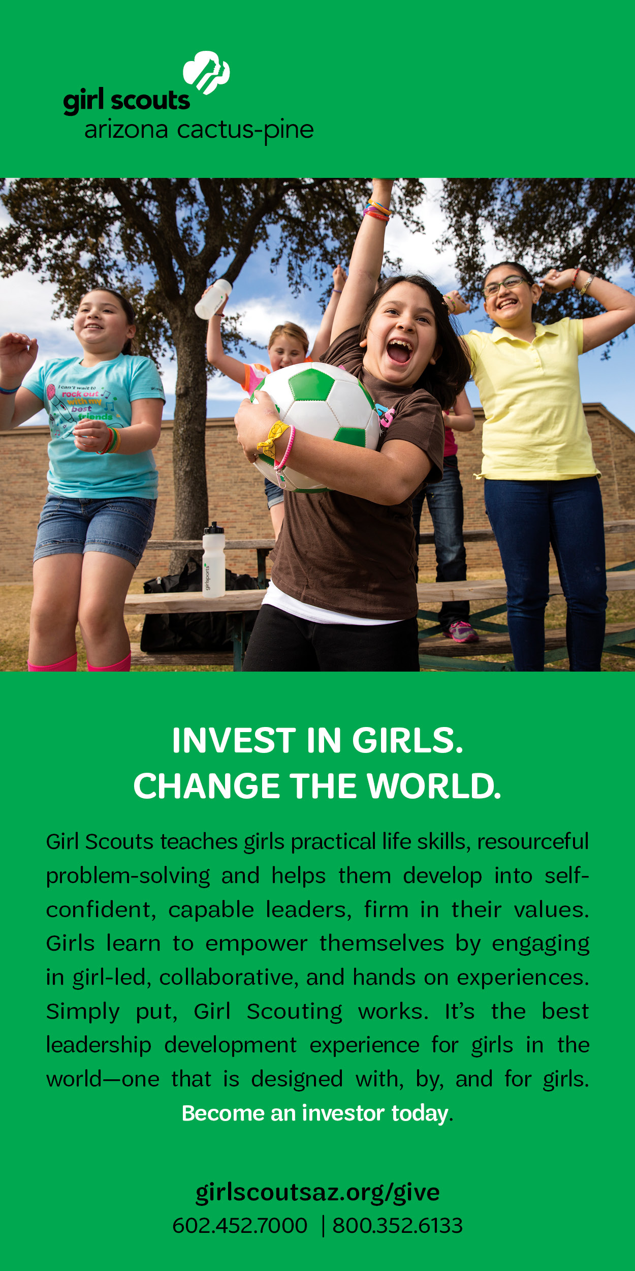 Visit Girl Scouts (half page)