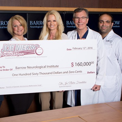 Joe Niekro Foundation Grants $160K to Barrow to Study Rare Brain Condition