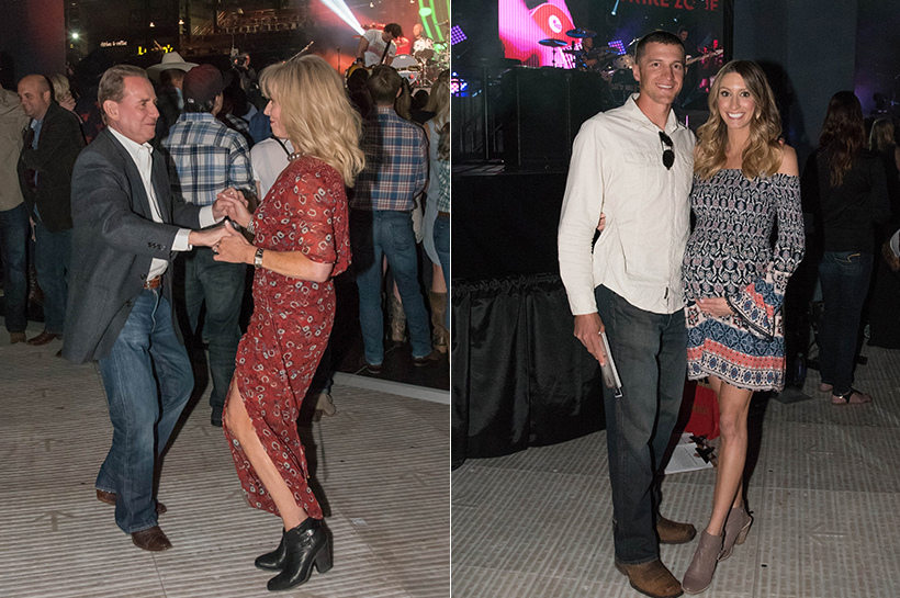 PHOENIX, ARIZONA- MARCH 31: Guests dance during the Cole Swindell concert as the Arizona Diamondbacks host the 10th annual Evening on the Diamond at Chase Field on March 31, 2016 in Phoenix, Arizona. (Photo by Olivia Demetros/ Arizona Diamondbacks)