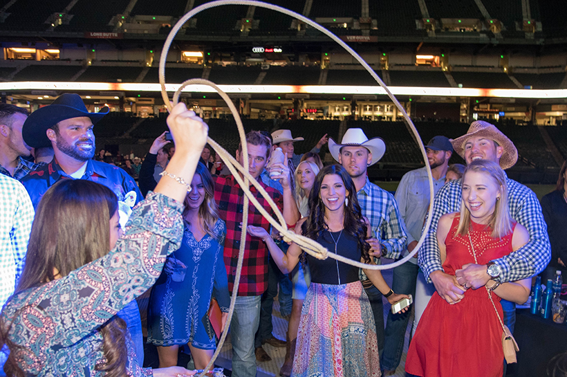 PHOENIX, ARIZONA- MARCH 31: Players and girlfriends have fun during the Cole Swindell concert as the Arizona Diamondbacks host the 10th annual Evening on the Diamond at Chase Field on March 31, 2016 in Phoenix, Arizona. (Photo by Olivia Demetros/ Arizona Diamondbacks)