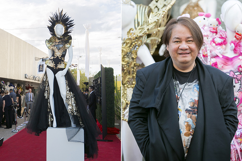Bodysuit and Headpiece by Rocky Gathercole at entrance crop copy