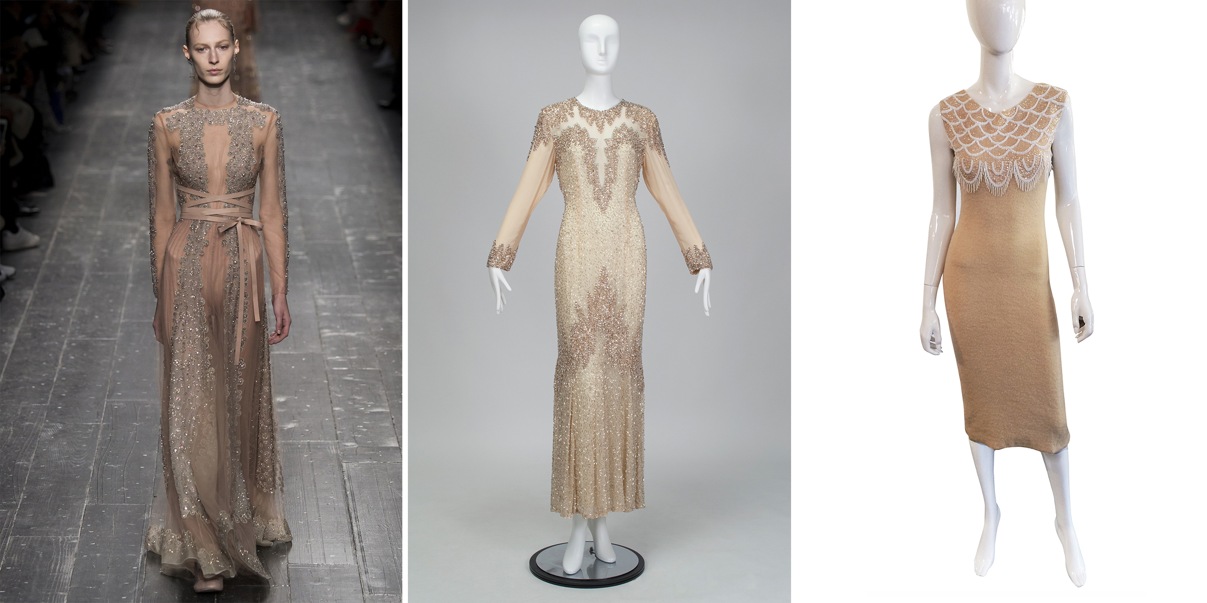 A Valentino Haute Couture gown (A/W 2016) compared with a similar vintage gown at Black Cat Vintage.