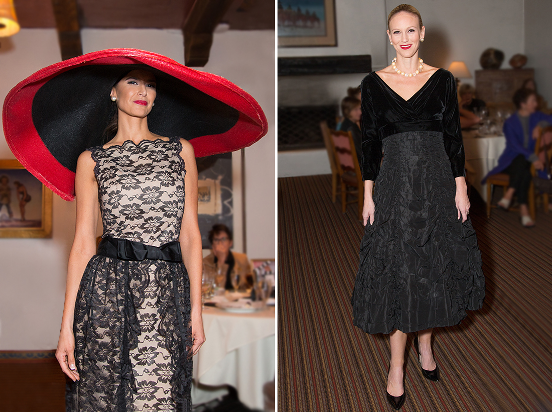 Black Lace dress by Lee Jordon  Hat custom Paramount Studios feat 2