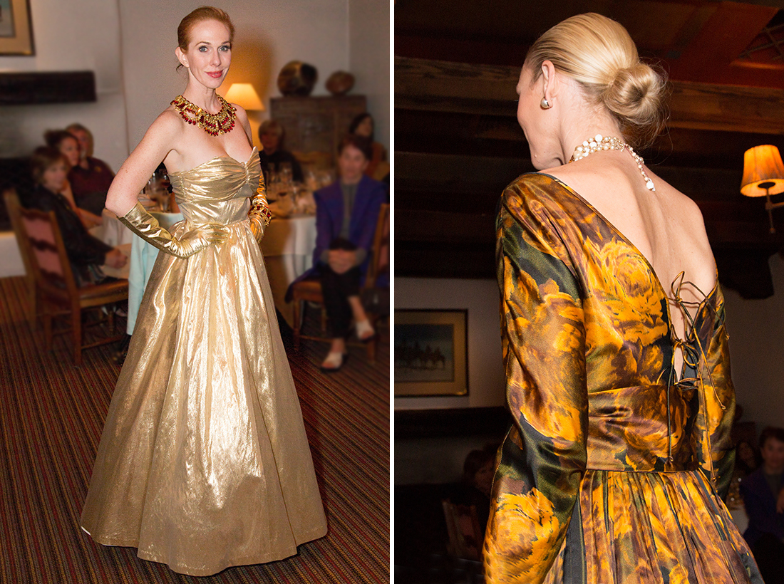 Custom Gold Lame dress - Jewelry by Alan Anderson feat 2