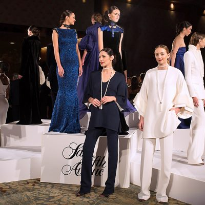 Zang Toi Presents His 'Brilliant Royal Blue' Collection at Fresh Start Gala