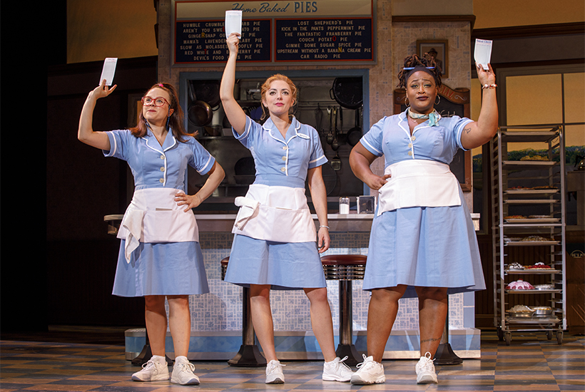 Culture archives the red book lenne klingaman desi oakley and charity angel dawson in the national tour of waitress photo by joan marcus spiritdancerdesigns Image collections