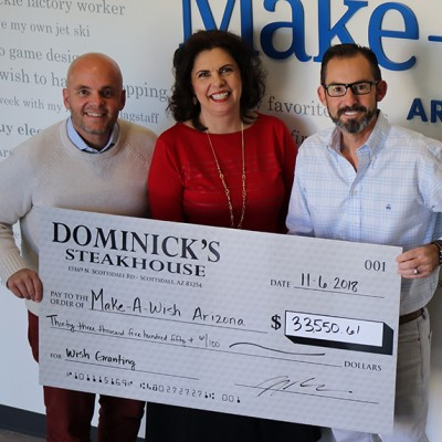 Dominick's Steakhouse Raises Money for Make-A-Wish