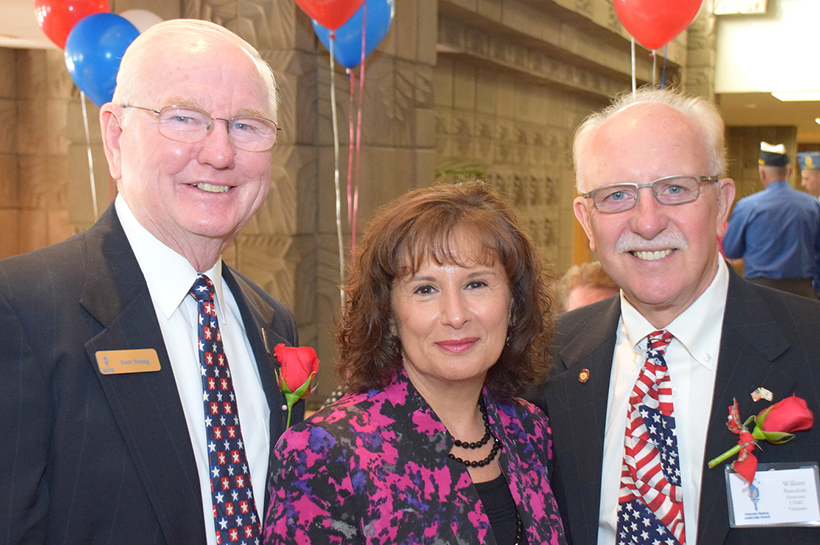 Sam Young, MaryEllen & William Beaudoin (Honoree) crop