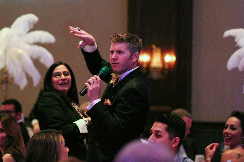 Bobby D during live auction crop